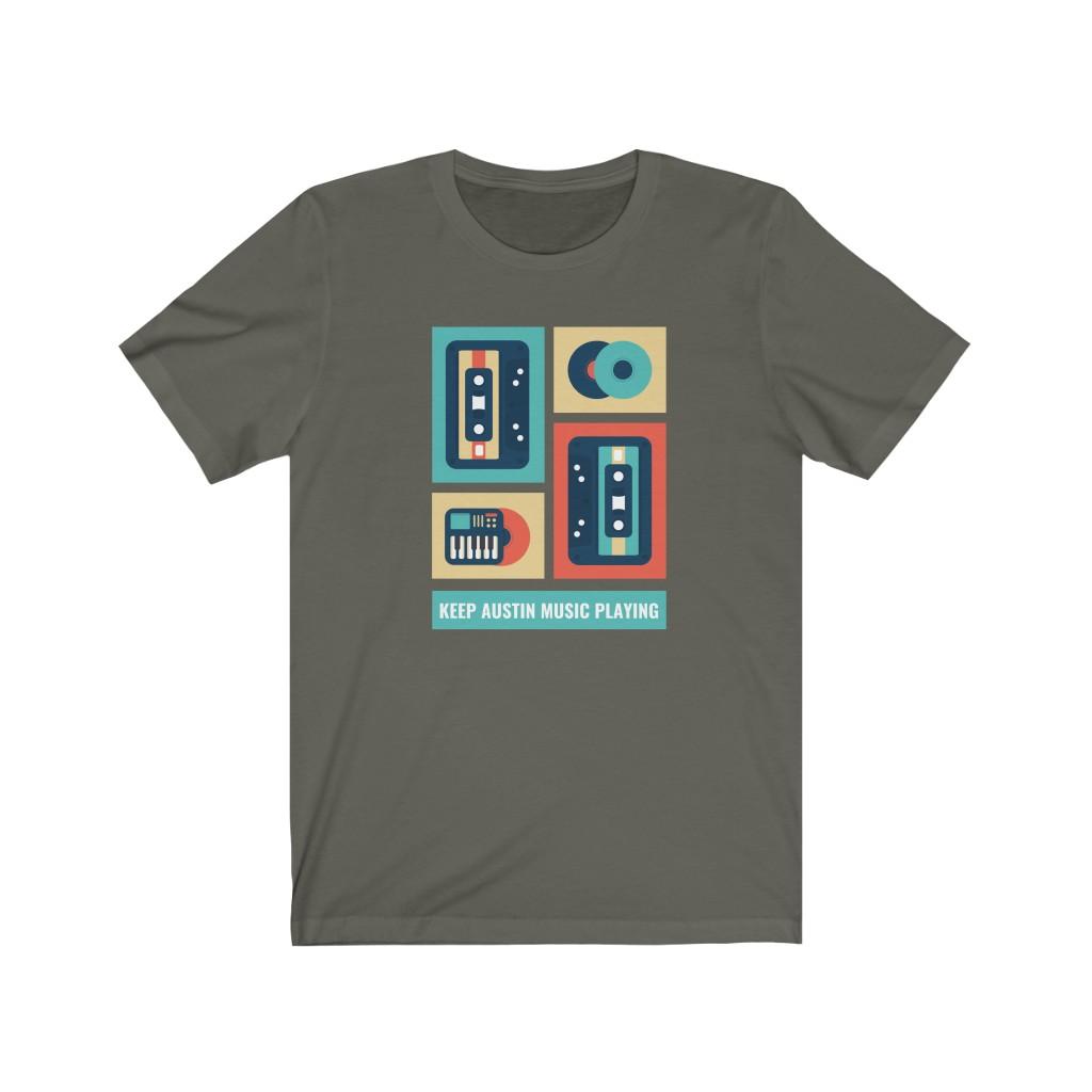 Keep Austin Music Playing T Shirt