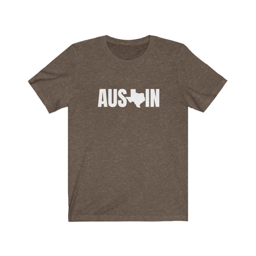 Austin Texas Soft Cotton Tee Shirt