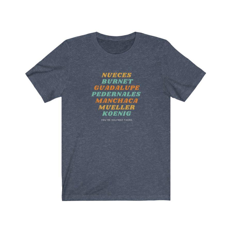 Austin Street Names T Shirt