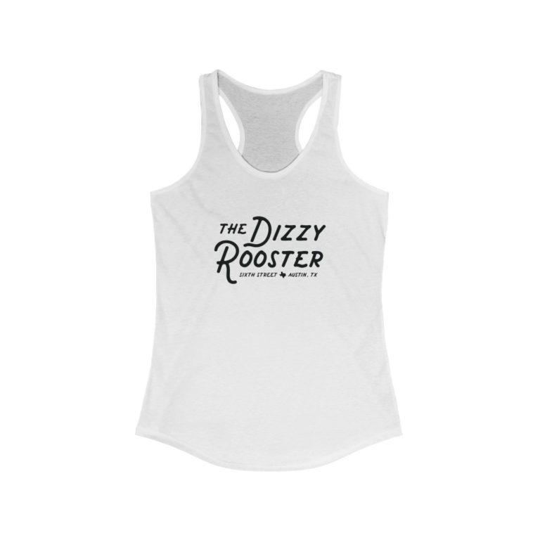 Dizzy Rooster - 6th Street - Austin TX - Women's Racerback Tank Top