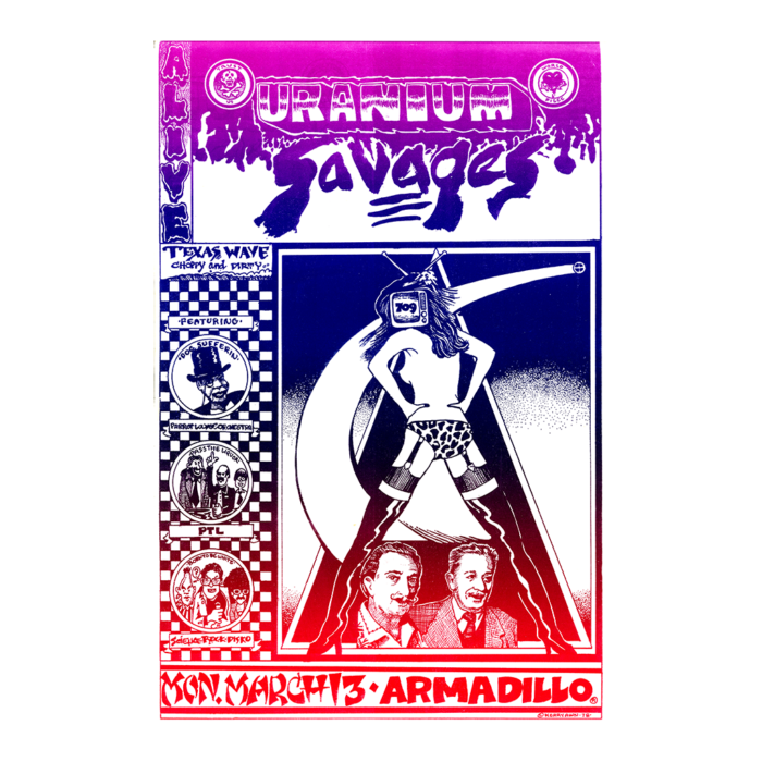 Uranium Savages at Armadillo World Headquarters Poster