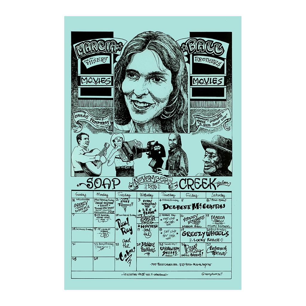 Soap Creek Saloon Calendar - November 1976