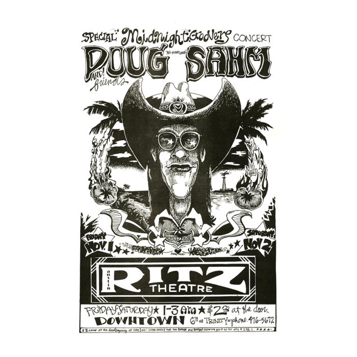 Doug Sahm Concert Poster