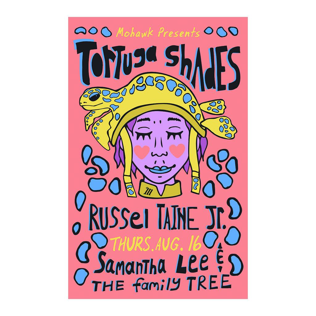 Tortuga Shades Concert Poster - The Mohawk - Austin TX