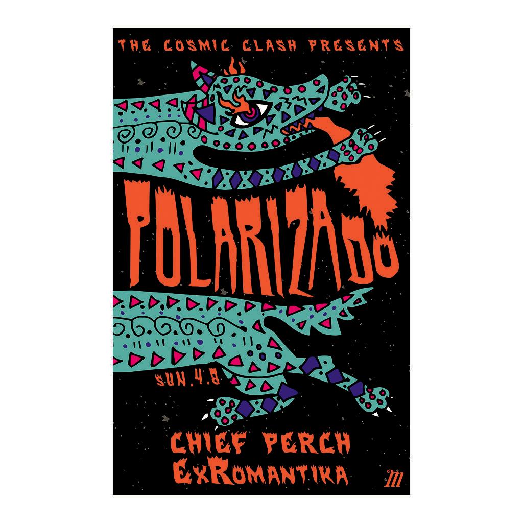 Polarizado Concert Poster - The Mohawk - Austin TX