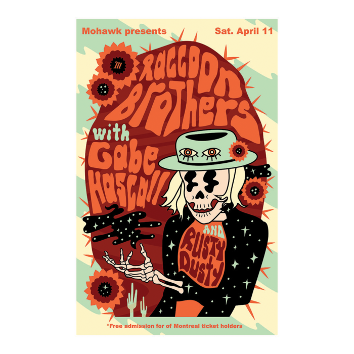 Raccoon Brothers Concert Poster - The Mohawk - Austin TX