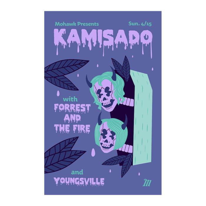 Kamisado Concert Poster - The Mohawk - Austin TX