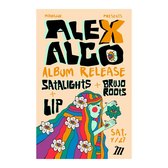 Alex Alco Album Release Poster - The Mohawk - Austin TX
