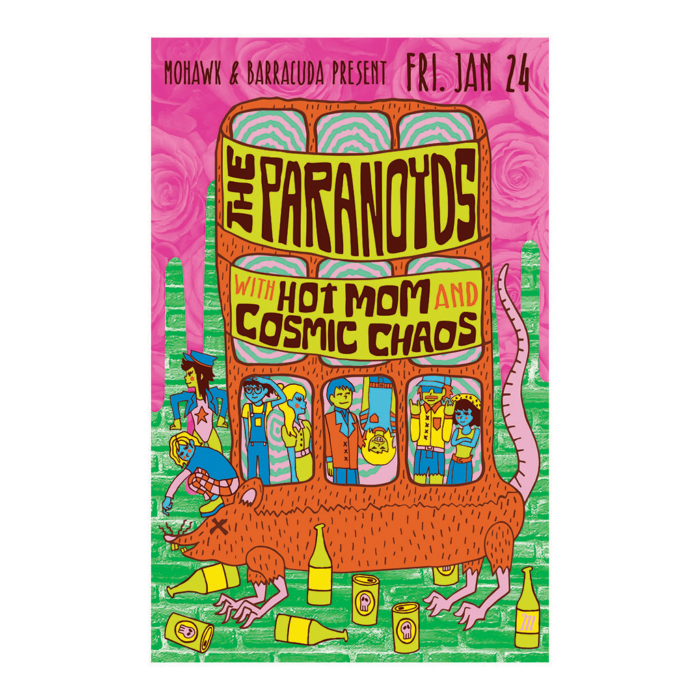 Paranoyds Concert Poster - The Mohawk - Austin, TX