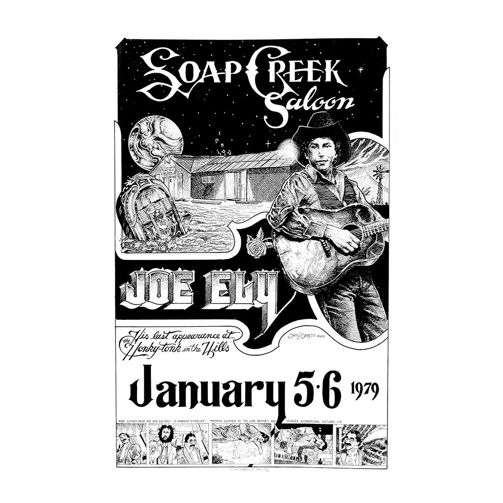 Joe Ely at Soap Creek Saloon Poster - Danny Garrett Art