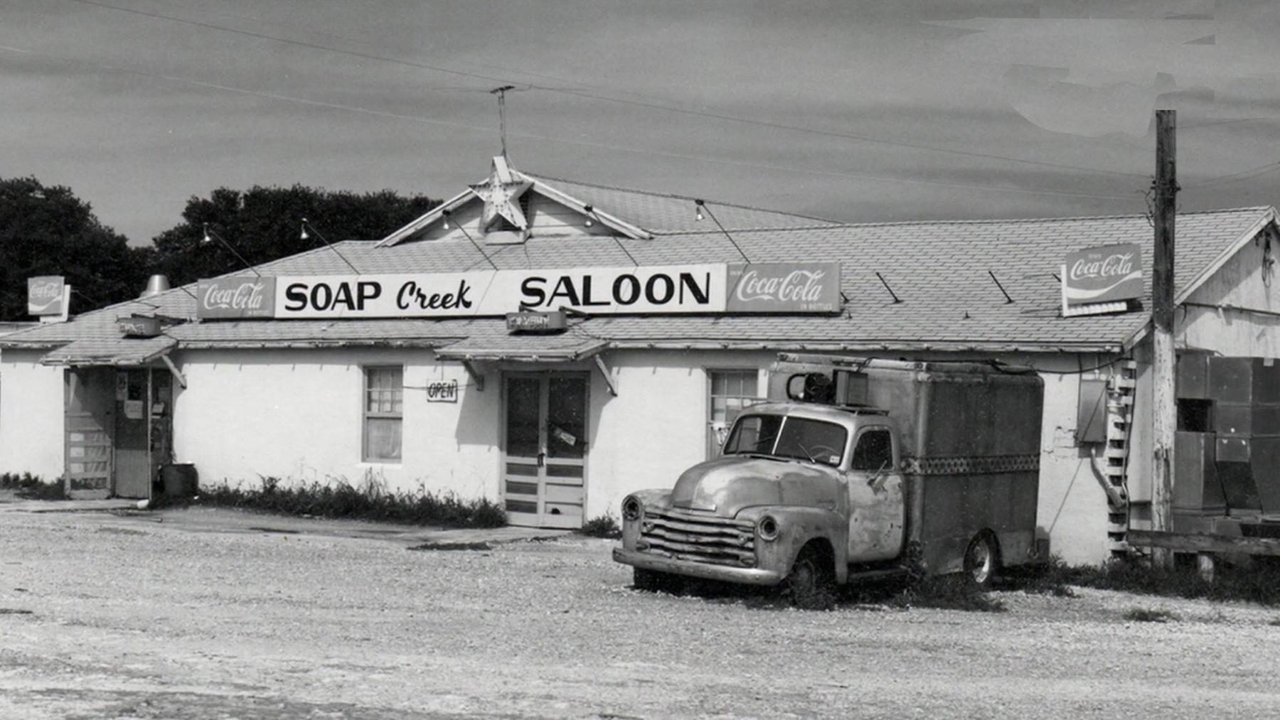 Soap Creek Saloon, circa 1973.  Photo Mark F. Barnes w/ permission by Mark Barnes.